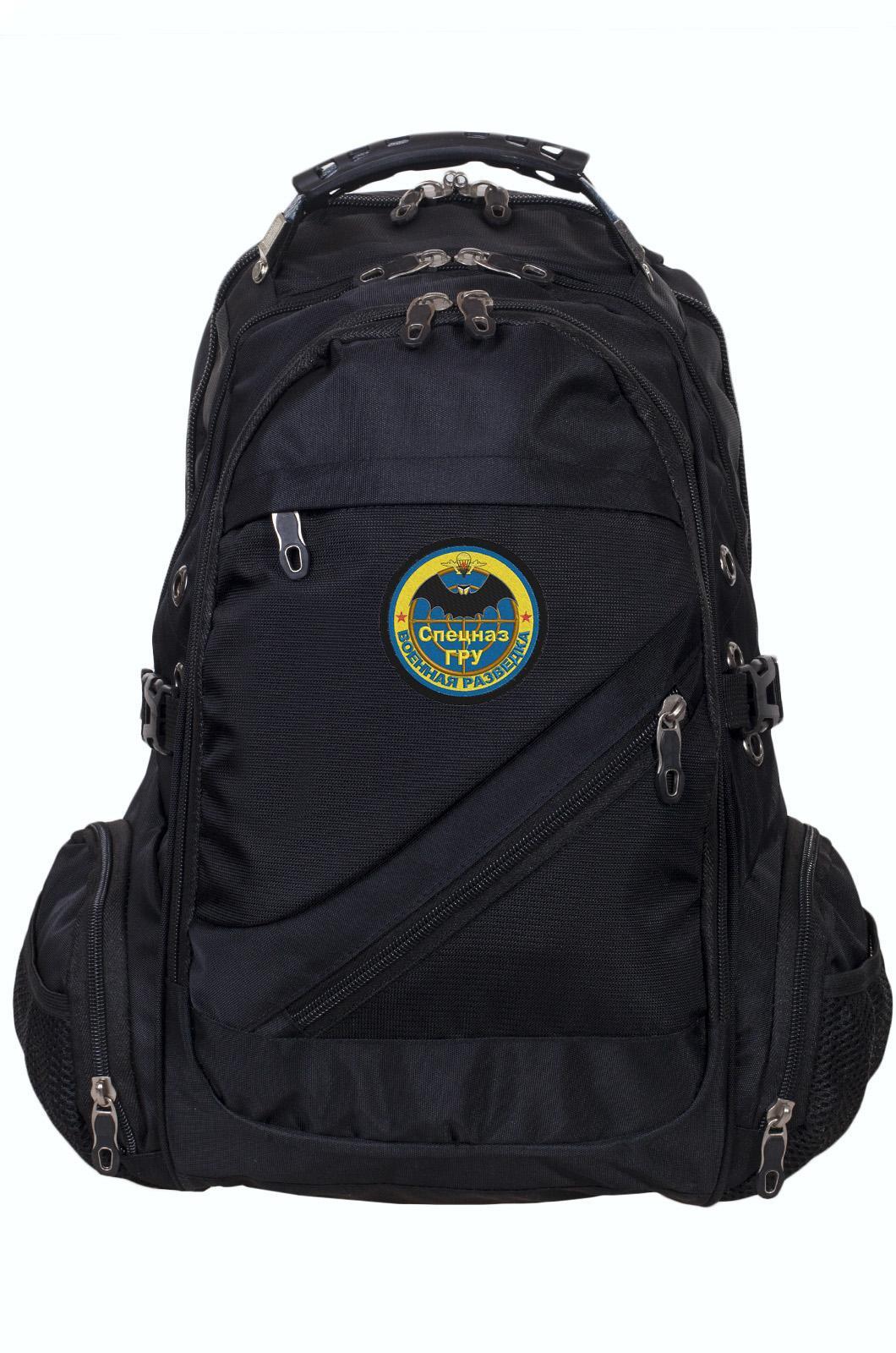 Зачетный черный рюкзак с нашивкой Спецназ ГРУ