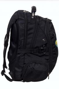 Заказать зачетный черный рюкзак с нашивкой Спецназ ГРУ