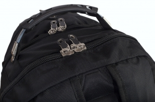 Зачетный черный рюкзак с нашивкой Спецназ ГРУ купить выгодно