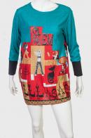 Задорное оригинальное платье-туника с крупным принтом