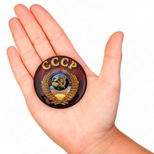 Заказать закатный значок с гербом СССР