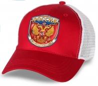 """Заказывай и будь в тренде! Супер-актуальная бейсболка """"Россия"""" с золотым гербом на красном фоне. Выглядит дороже, чем стоит. Не пропусти!"""