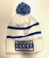 Заметная мужская шапка с нашивкой Sauce