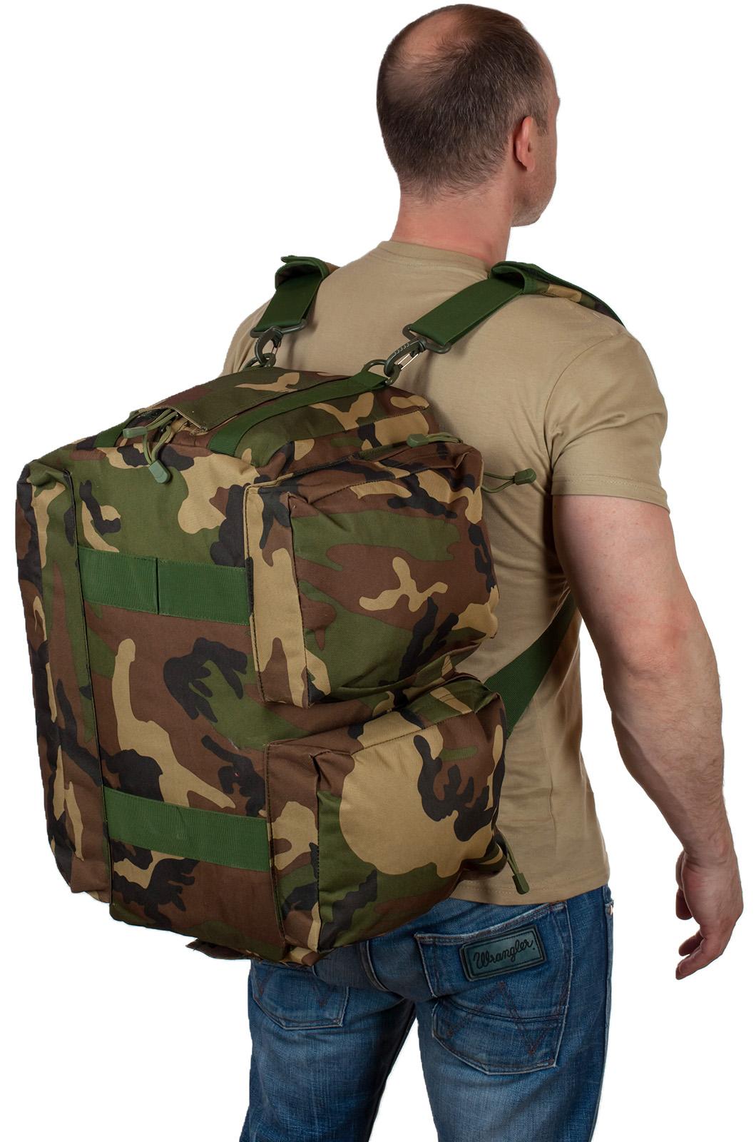 Заплечная дорожная сумка с нашивкой Ни пуха, Ни пера - купить оптом