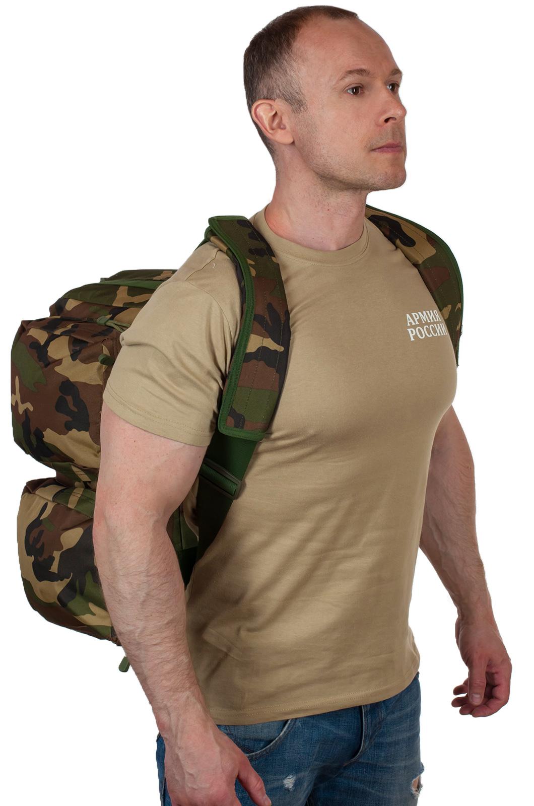 Заплечная дорожная сумка с нашивкой Ни пуха, Ни пера - заказать оптом
