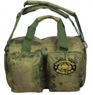 Заплечная камуфлированная сумка с нашивкой Танковые Войска