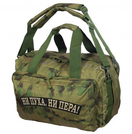 Заплечная камуфляжная сумка с нашивкой Ни пуха, Ни пера - купить выгодно