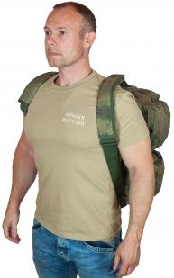 Заплечная камуфляжная сумка с нашивкой Ни пуха, Ни пера - купить с доставкой