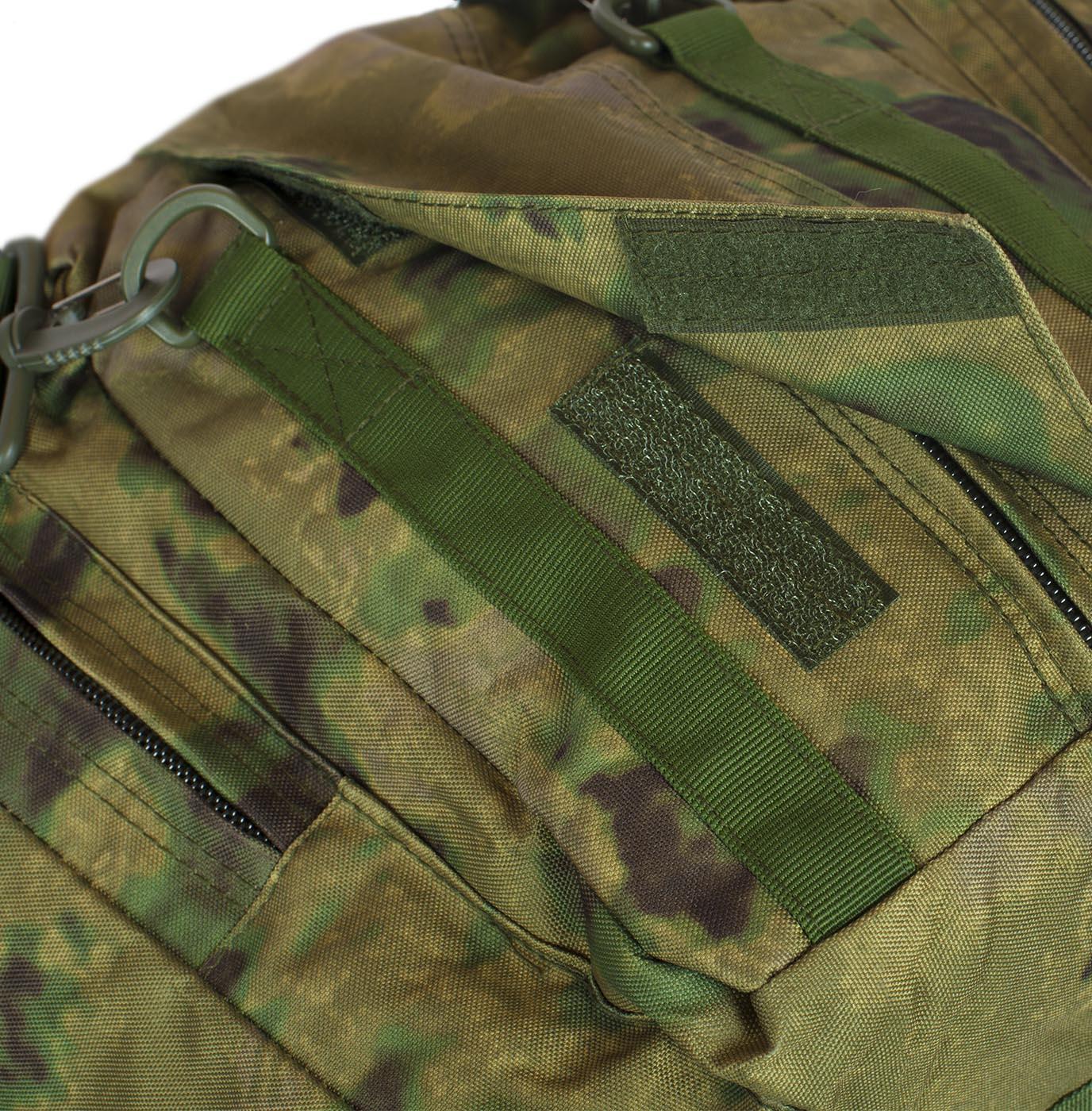 Заплечная камуфляжная сумка с нашивкой Ни пуха, Ни пера - заказать в подарок