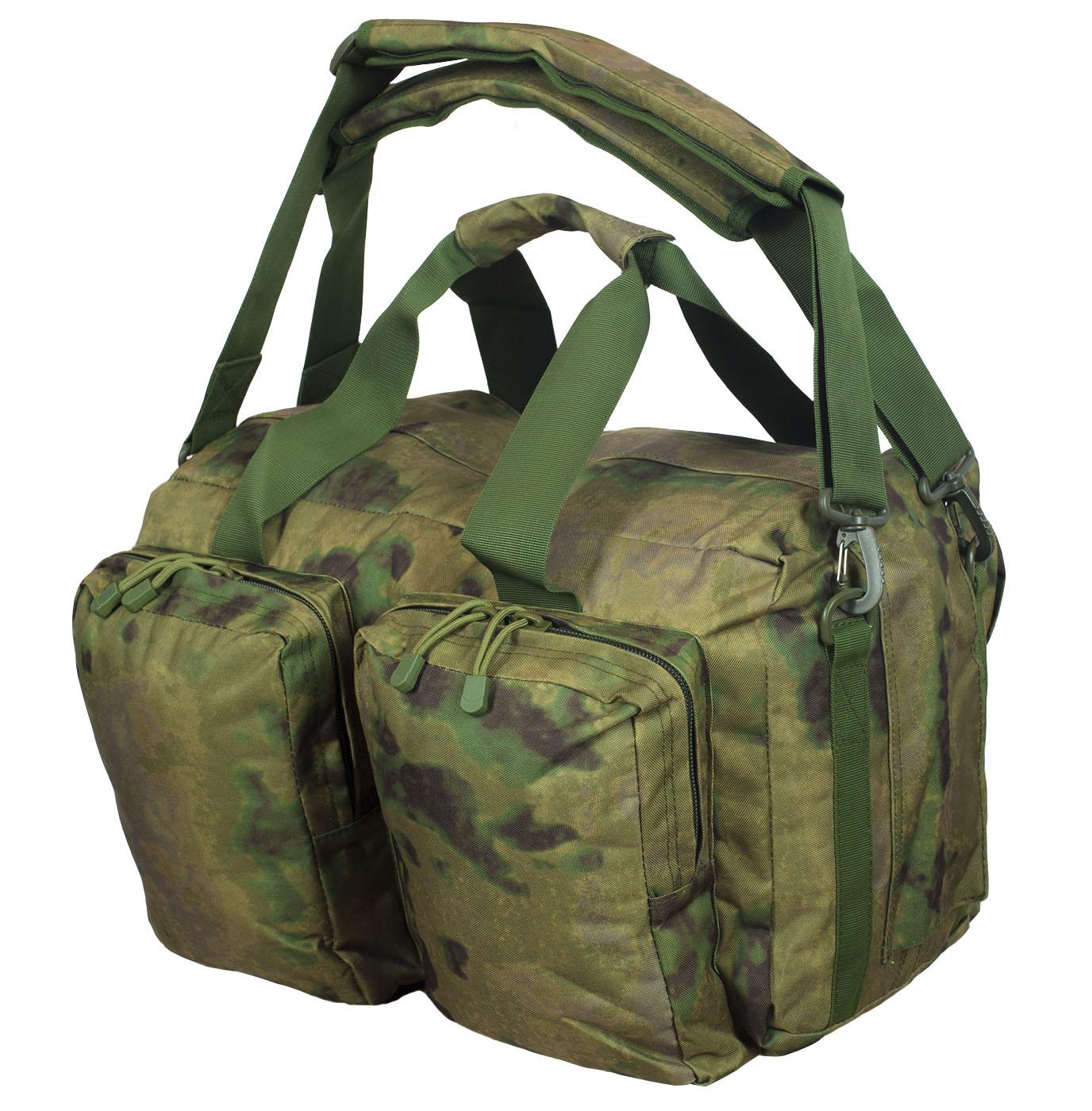 Заплечная камуфляжная сумка с нашивкой Ни пуха, Ни пера - купить в подарок