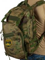 Заплечный вместительный рюкзак с нашивкой Танковые Войска