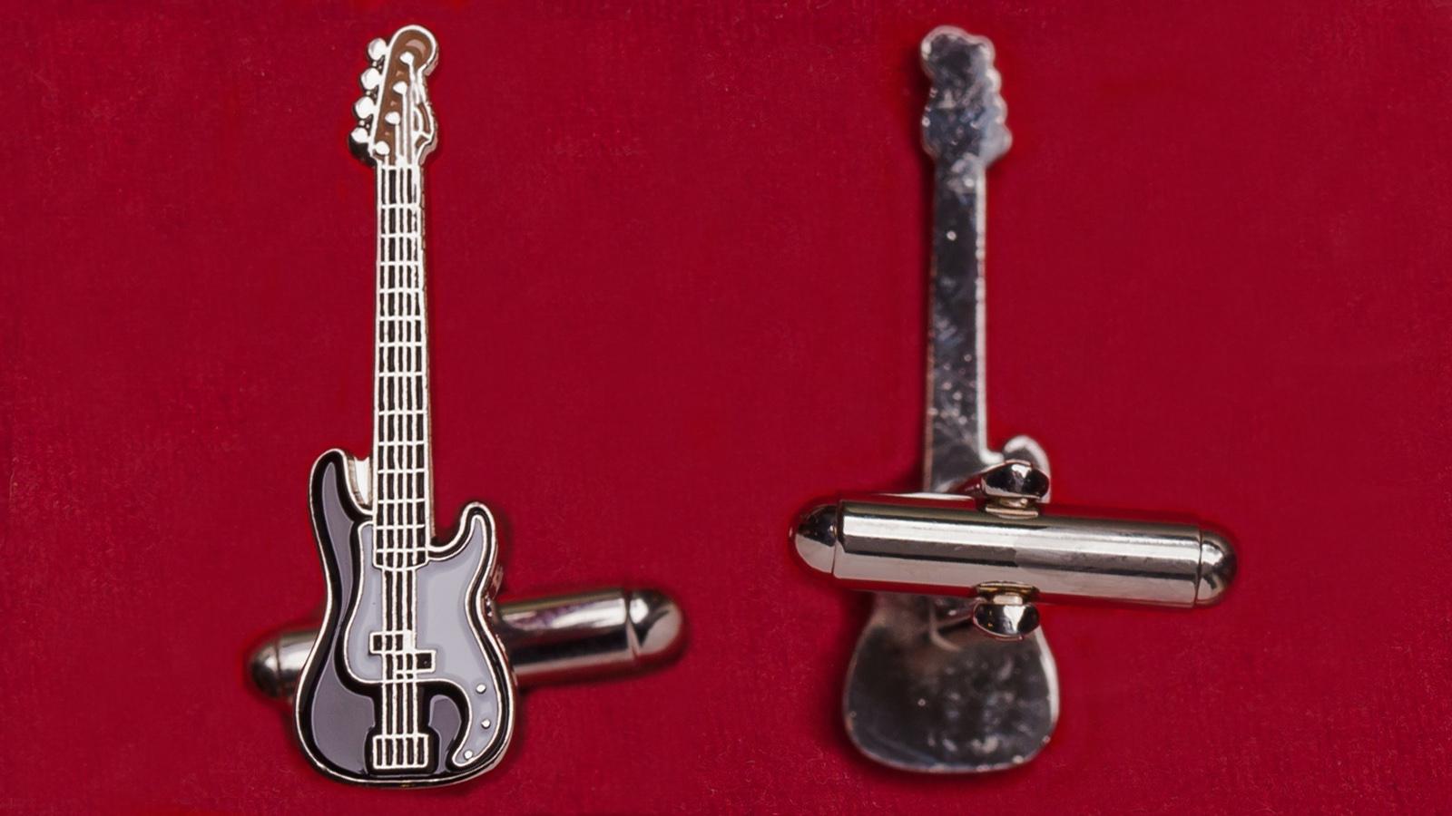 "Запонки ""Бас-гитара Fender Precision Bass"""