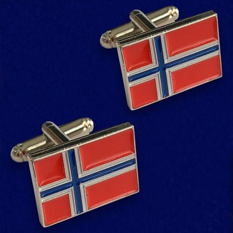 Подарочные запонки Флаг Норвегии