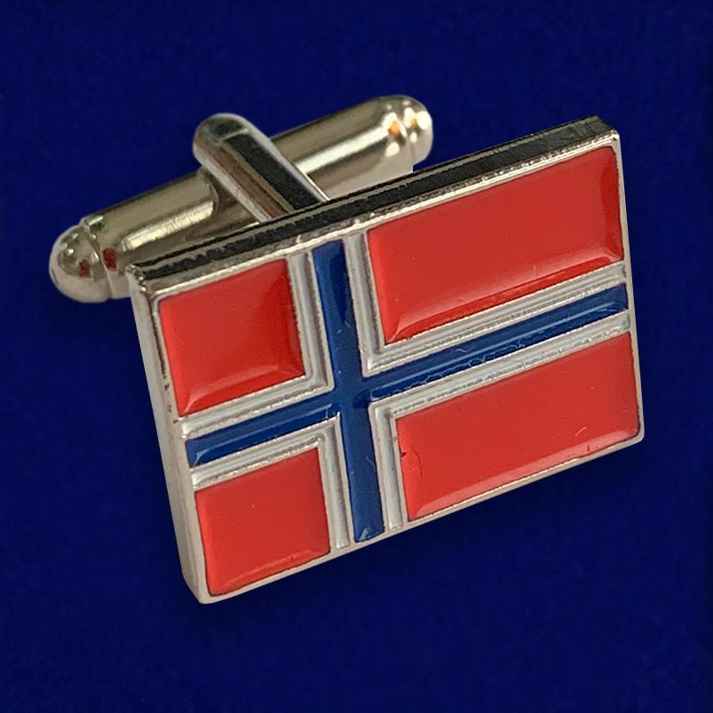 Подарочные запонки «Норвегия» – наличие в Москве