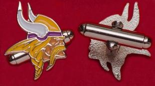 Запонки команды NFL Minnesota Vikings