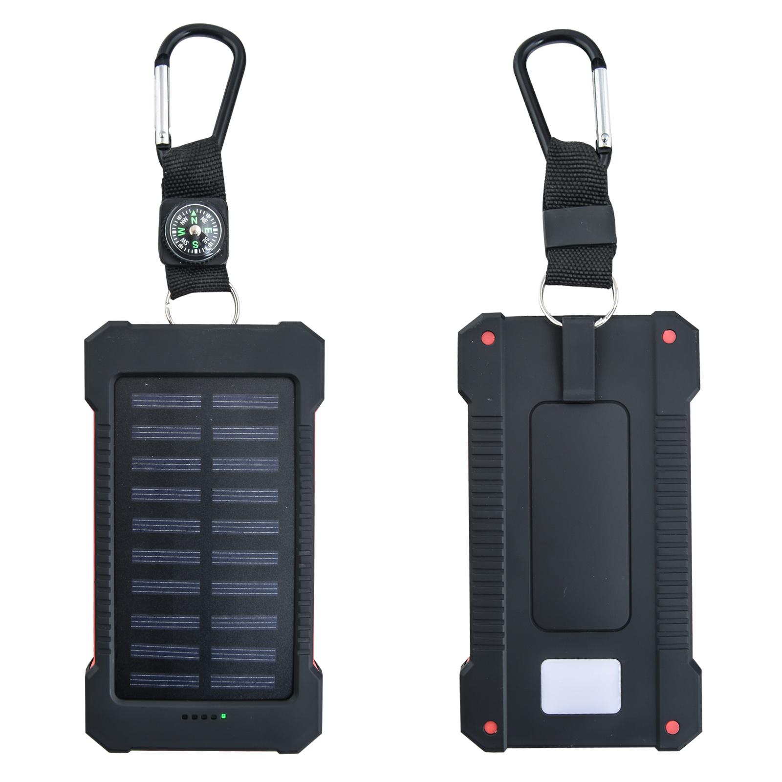 Зарядное устройство на 10000 mAh с солнечной батареей и компасом