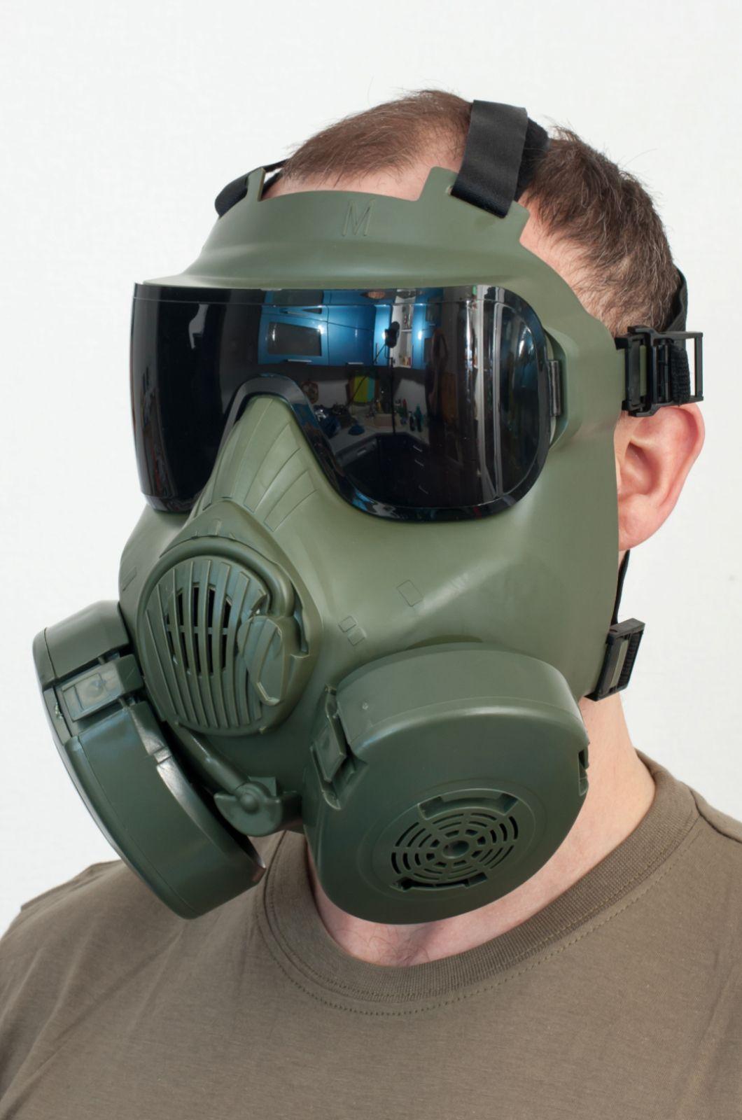 Защитная маска с респиратором для тактических игр