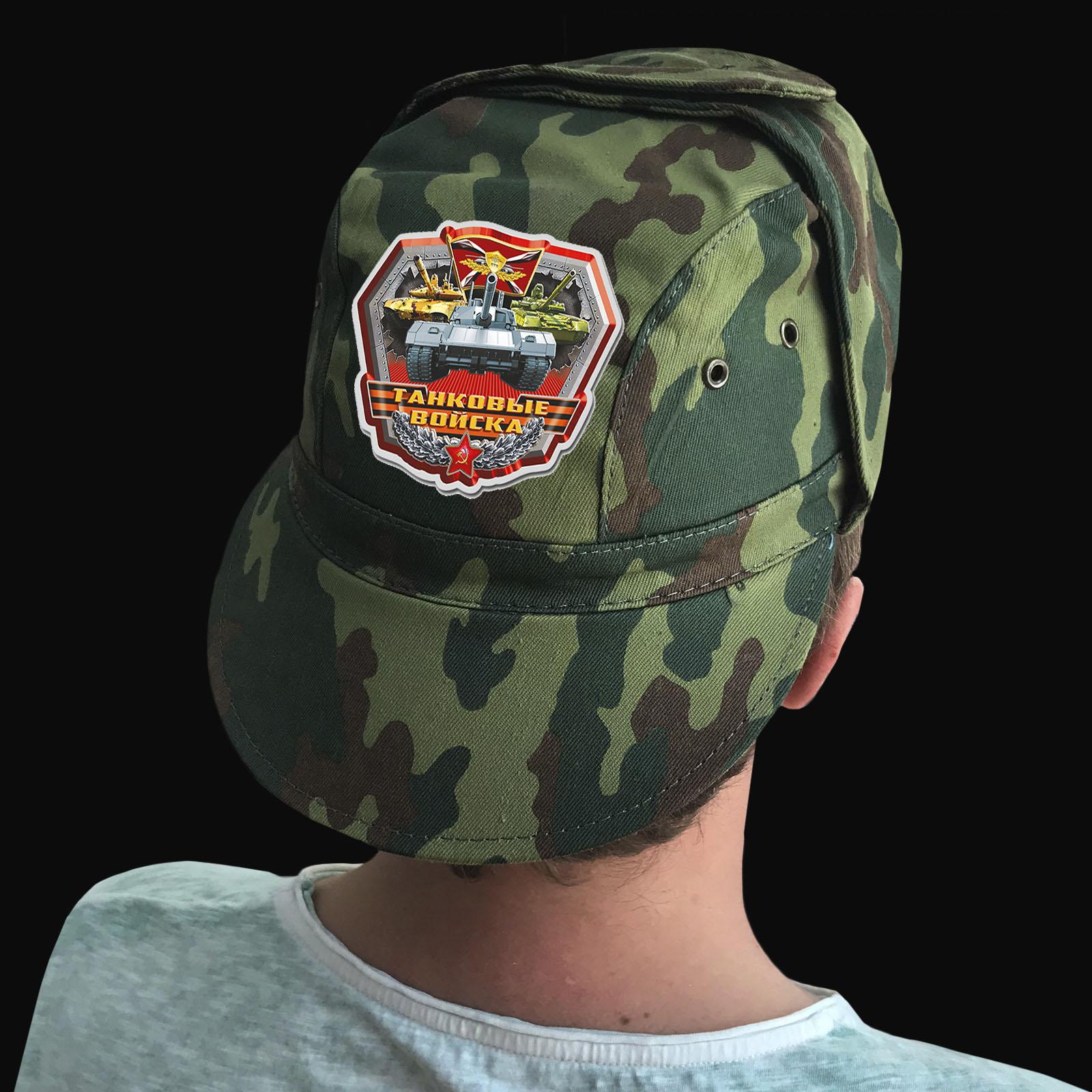 Купить защитную милитари-кепку с термонаклейкой Танковые Войска в подарок мужу