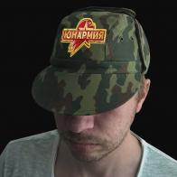 Защитная милитари-кепка с термонаклейкой Юнармия