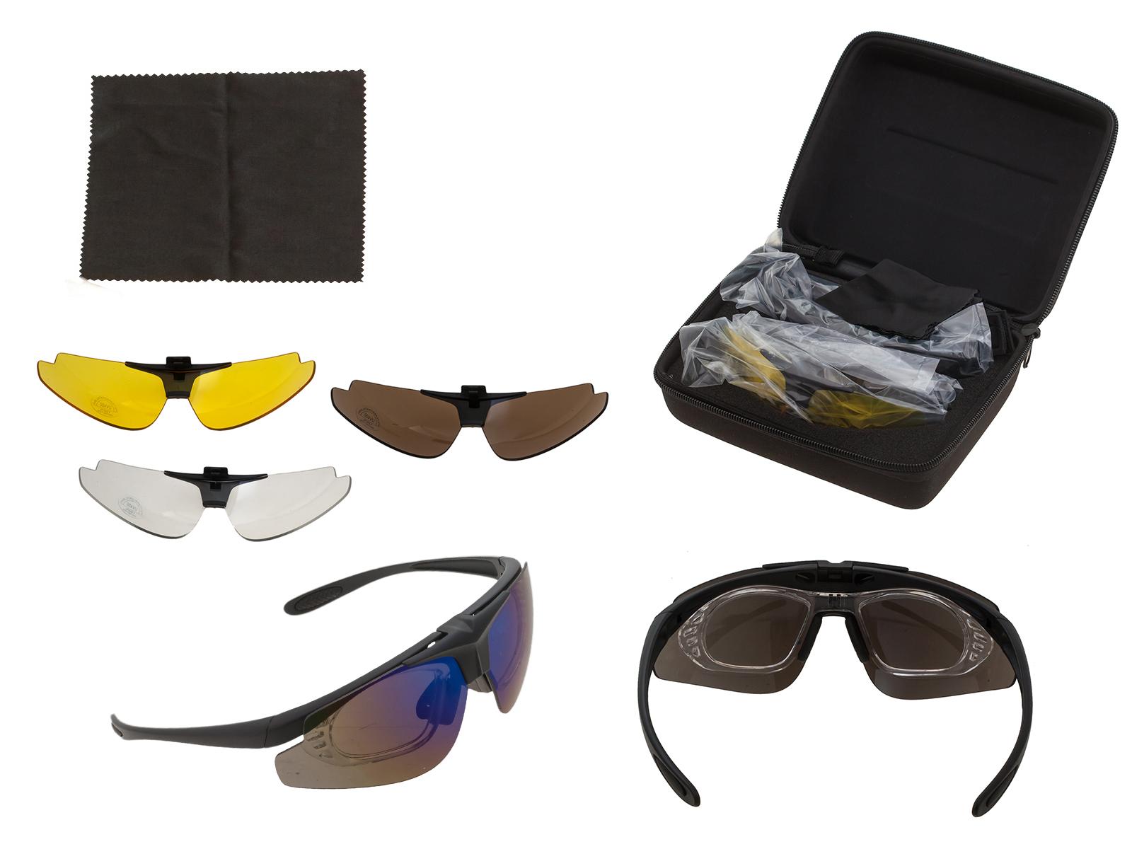 Защитные очки UV400 со сменными поликарбонатными линзами