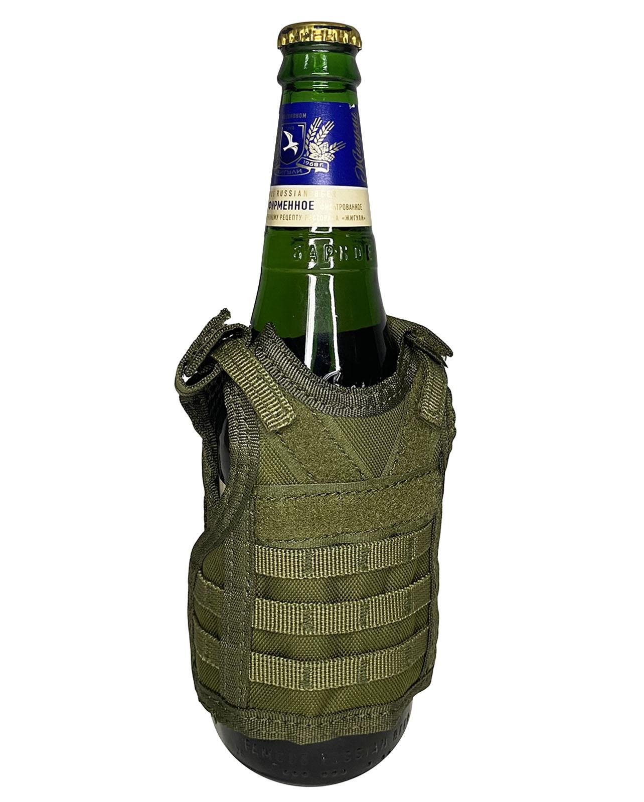 Защитный жилет на бутылки и банки (хаки-олива)