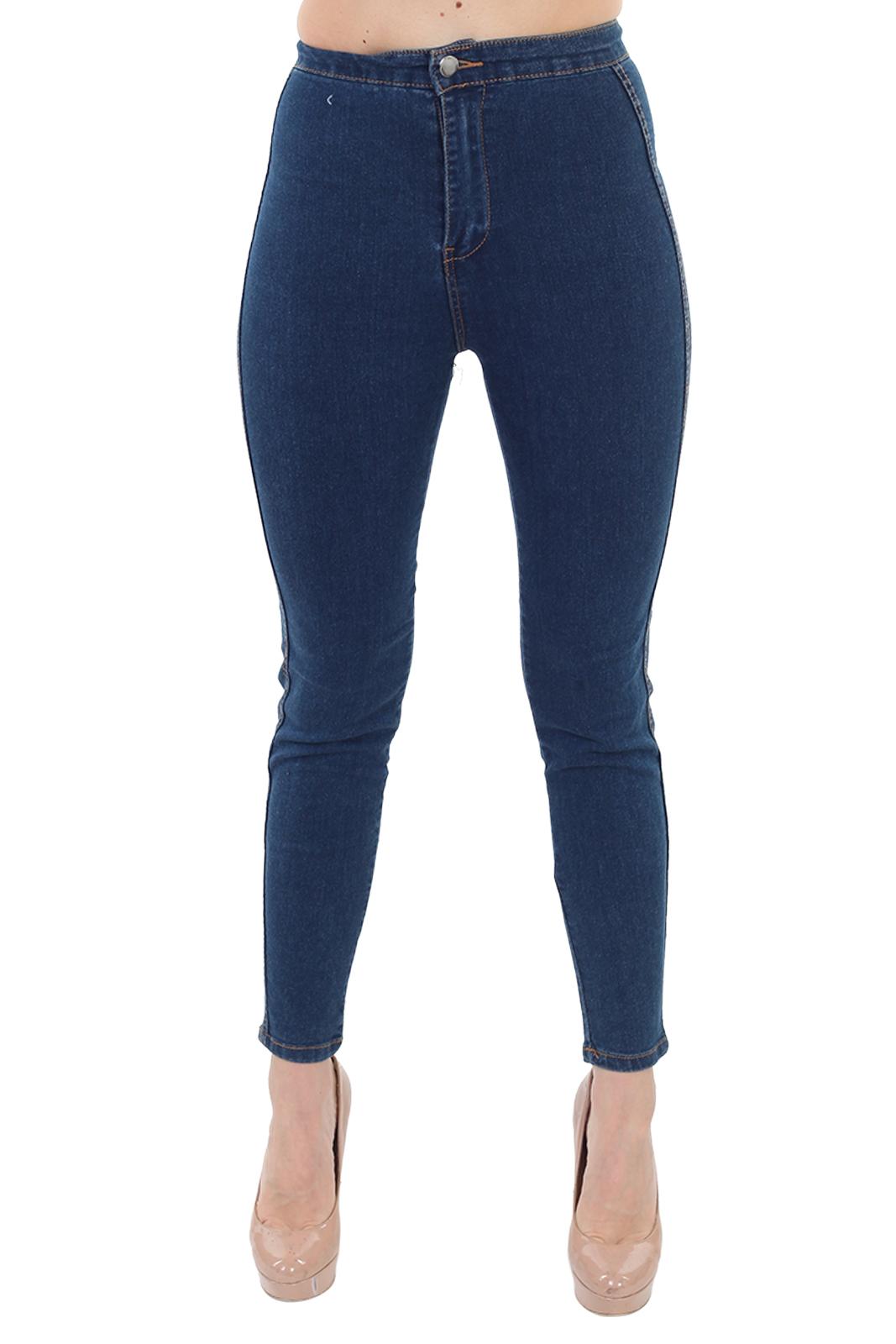 Купить женские джинсы скинни синего цвета
