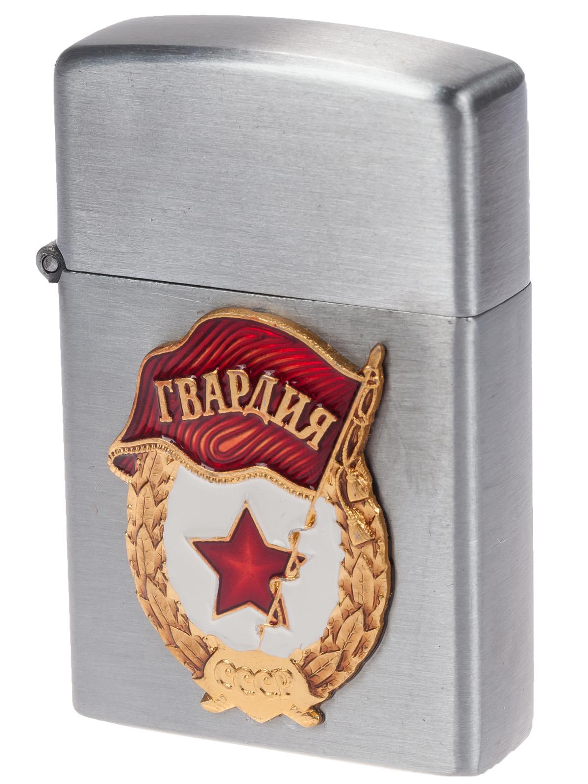 """Зажигалка """"Гвардия"""" в подарок на 9 мая (газовая Zippo) по низкой цене с доставкой"""
