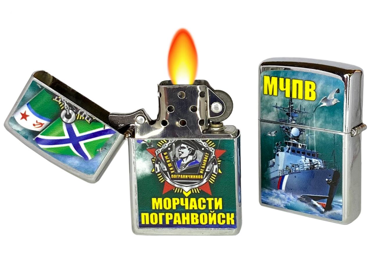Бензиновая зажигалка Морчастей Погранвойск отменной функциональности