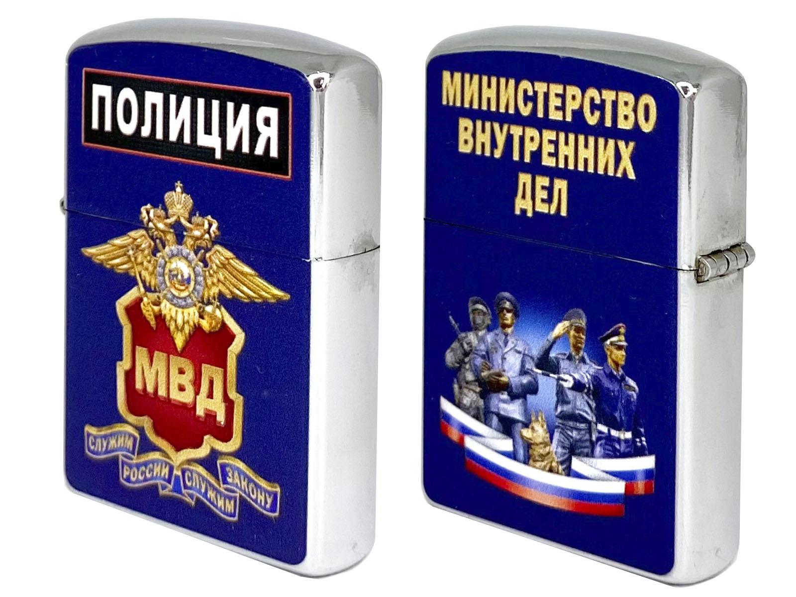 Бензиновая зажигалка МВД, Полиция