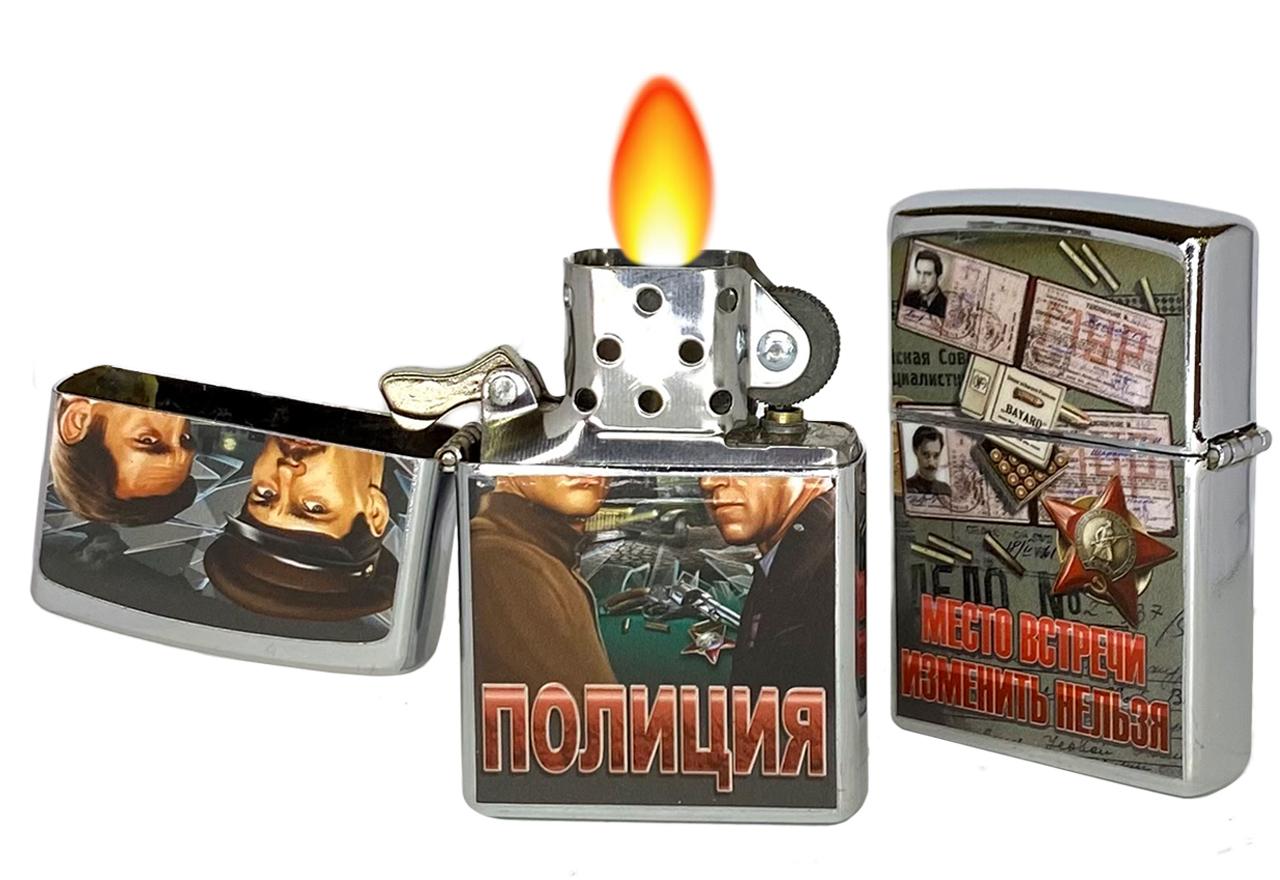 """Зажигалка """"Полиция"""" бензиновая Зиппо"""