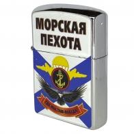 Бензиновая зажигалка с принтом Морская пехота