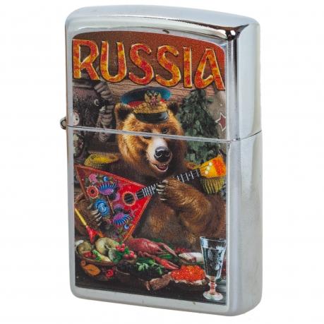 Зажигалка с русским медведем