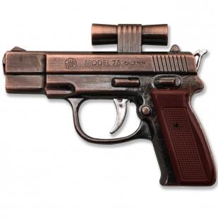 Зажигалка в форме пистолета с лазерным прицелом