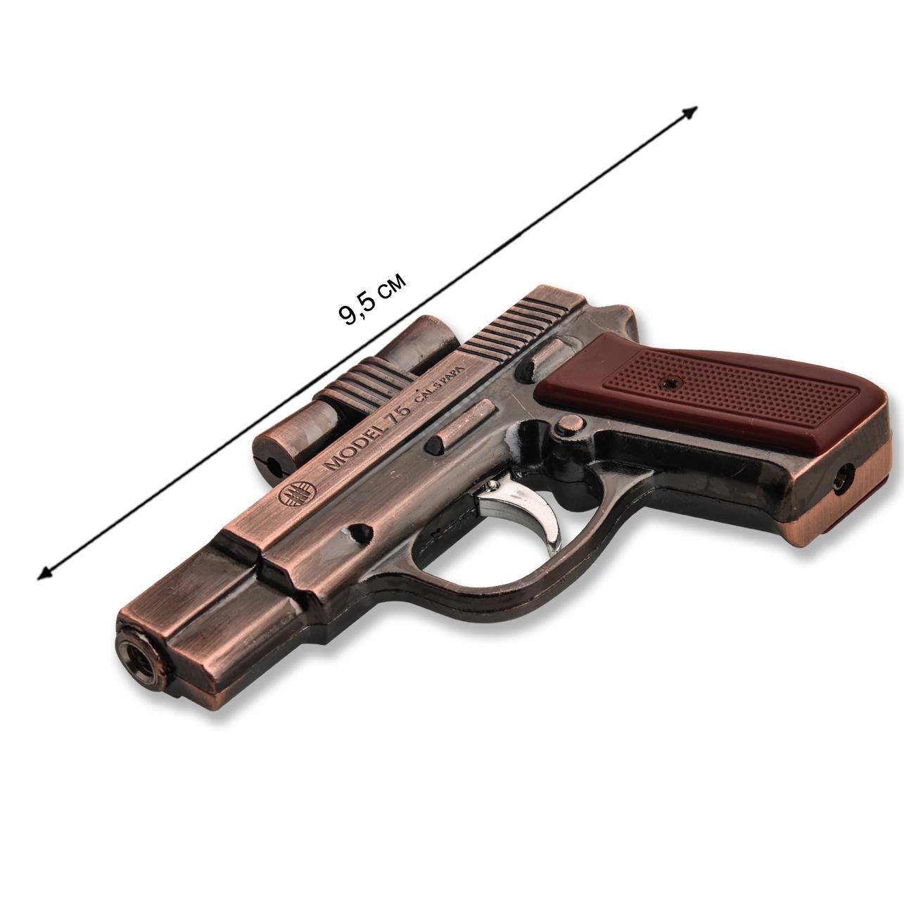 Зажигалка в форме пистолета по выгодной цене