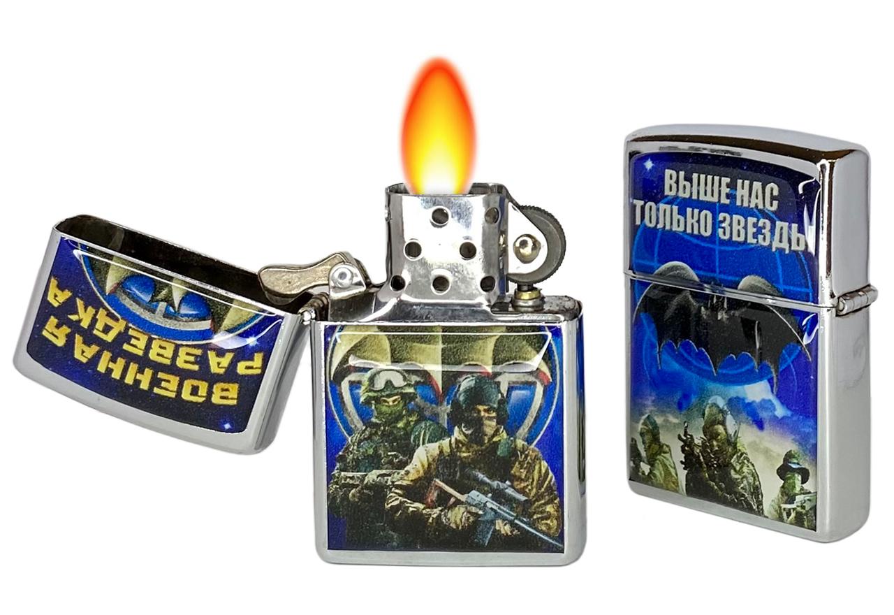 Бензиновая зажигалка Военного разведчика многократной заправки
