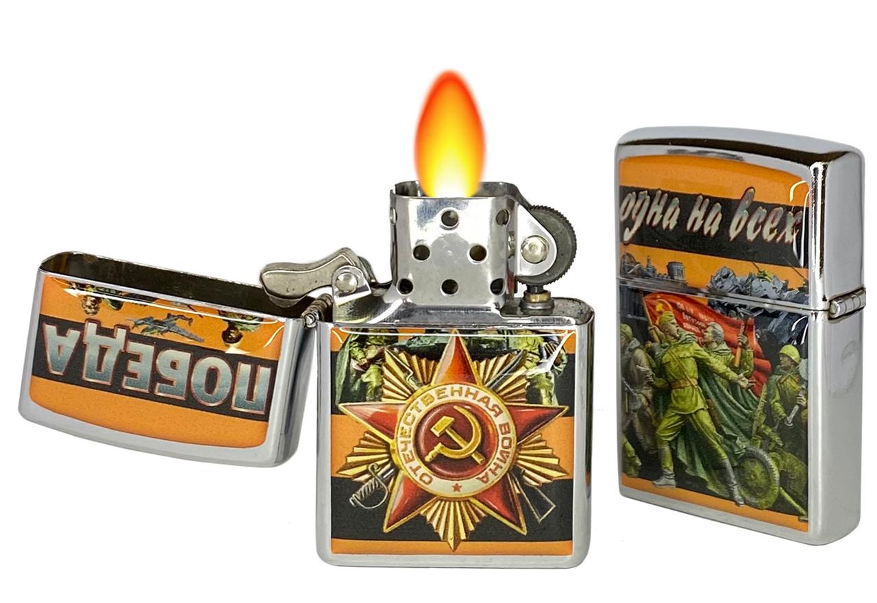 Зажигалка Zippo к 9 мая по низкой цене в военторге Военпро