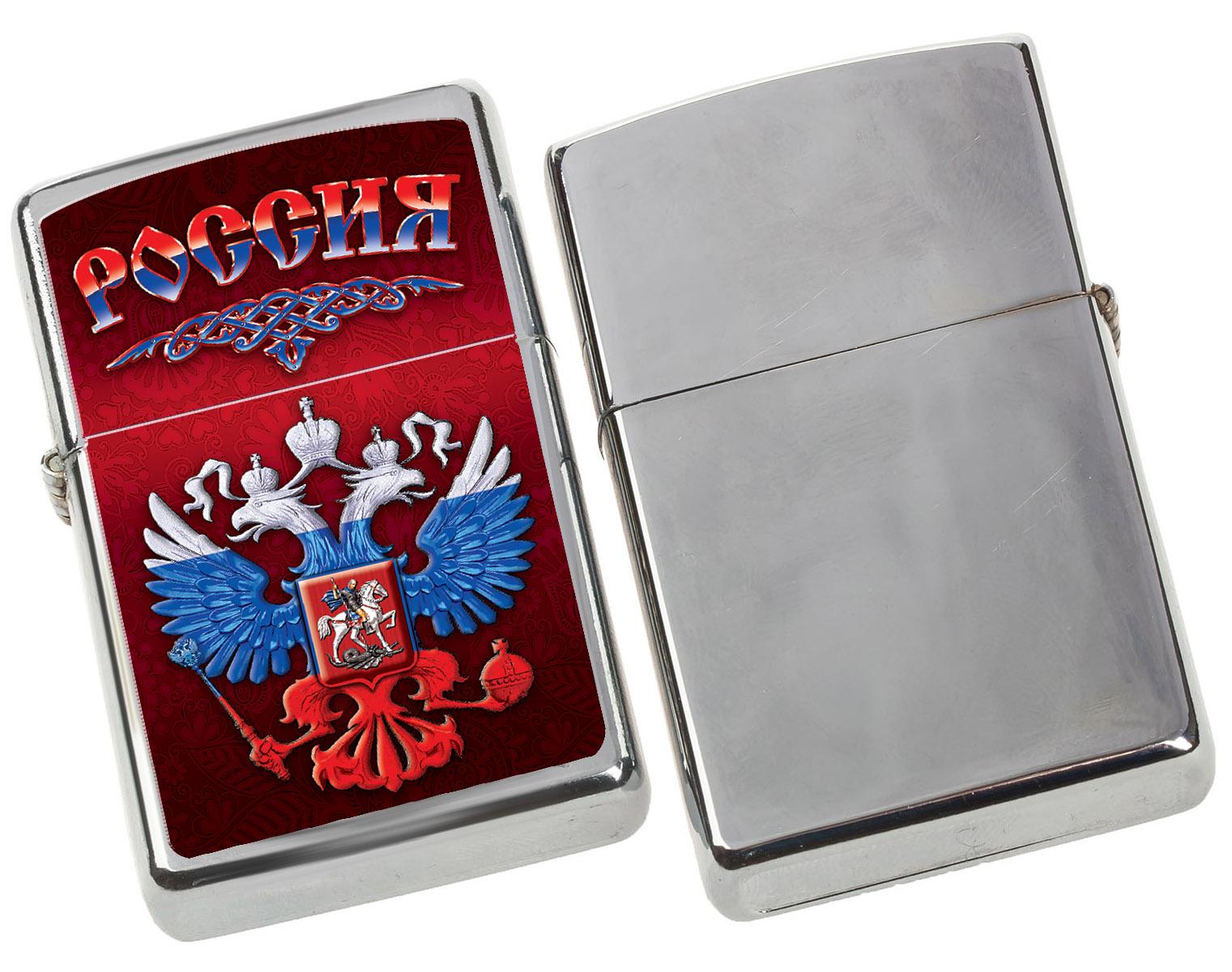 """Зажигалка Zippo """"Россия"""" с удобной доставкой"""