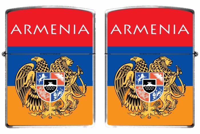 Зажигалка бензиновая «Флаг Армении»