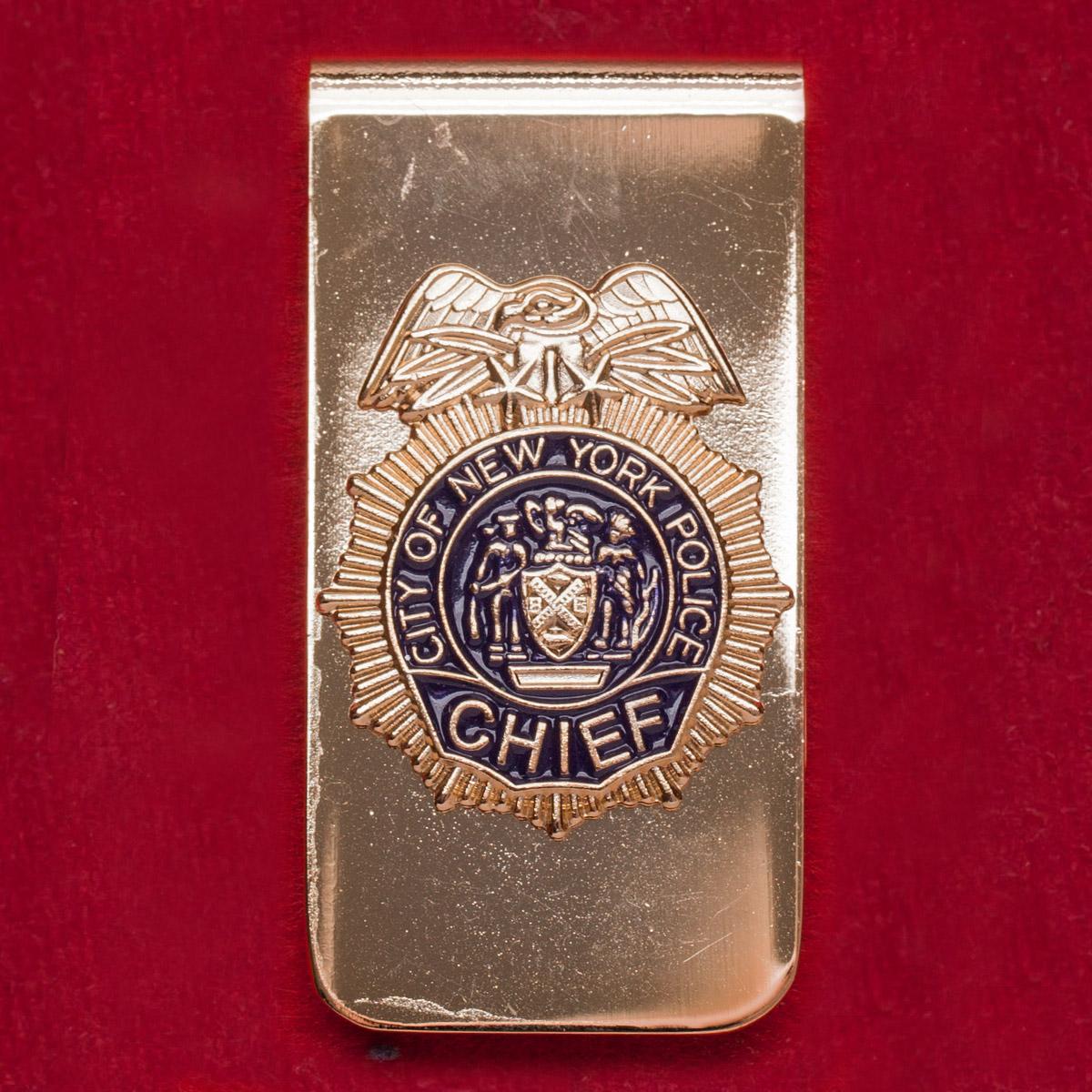 """Зажим для денег или ремня """"Шеф полиции Нью-Йорка"""""""