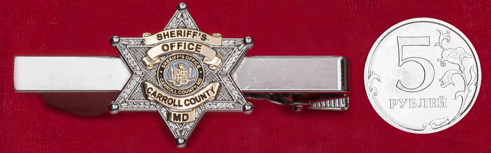 """Зажим для галстука """"Департамент шерифа округа Карролл, Мэриленд, США"""""""
