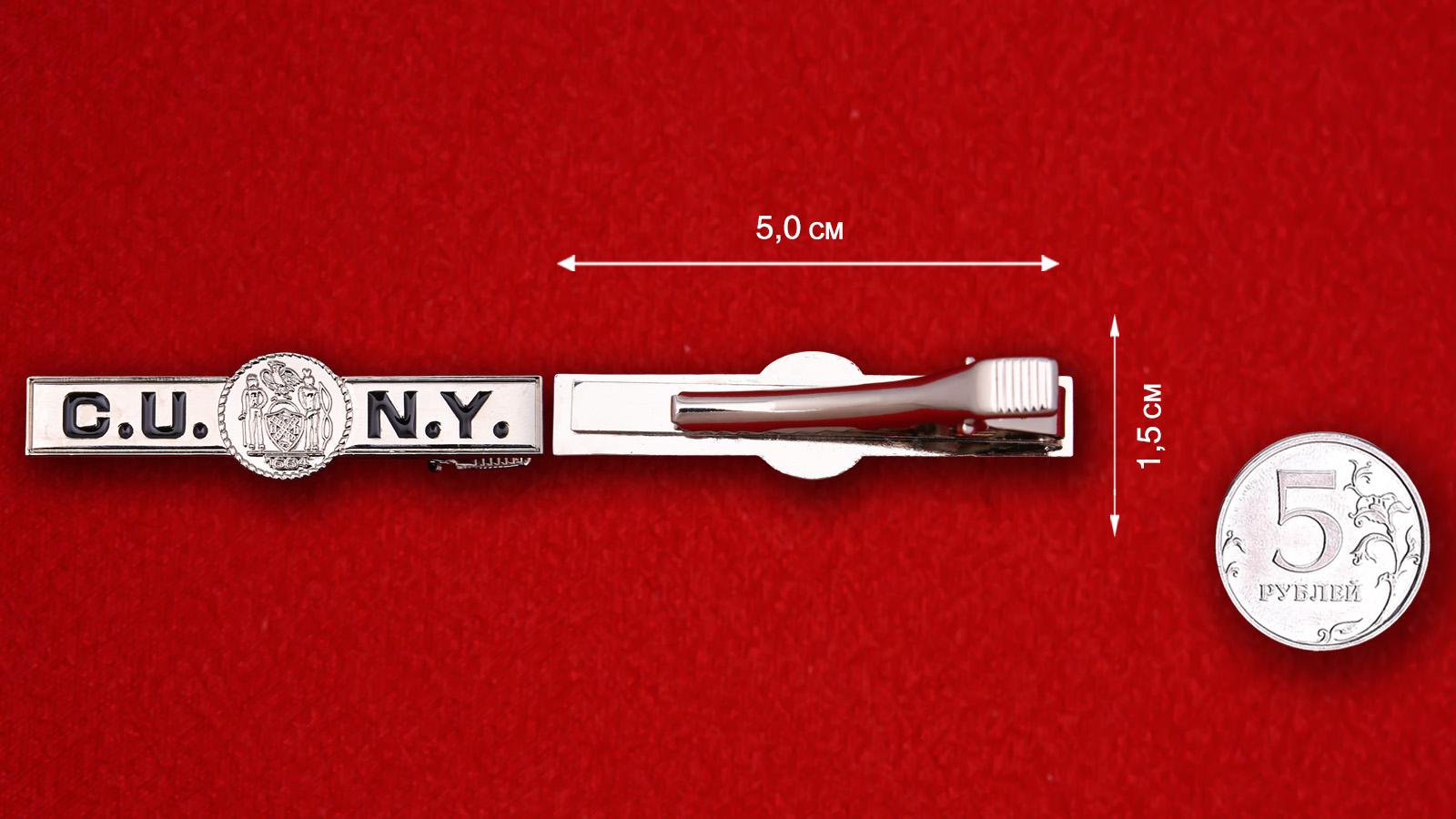 """Зажим для галстука """"Городской университет Нью-Йорка"""""""