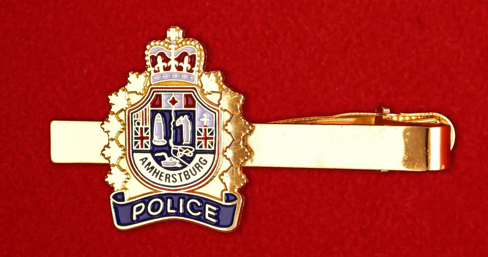 """Зажим для галстука """"Полиция Амерстберга. Канада"""""""