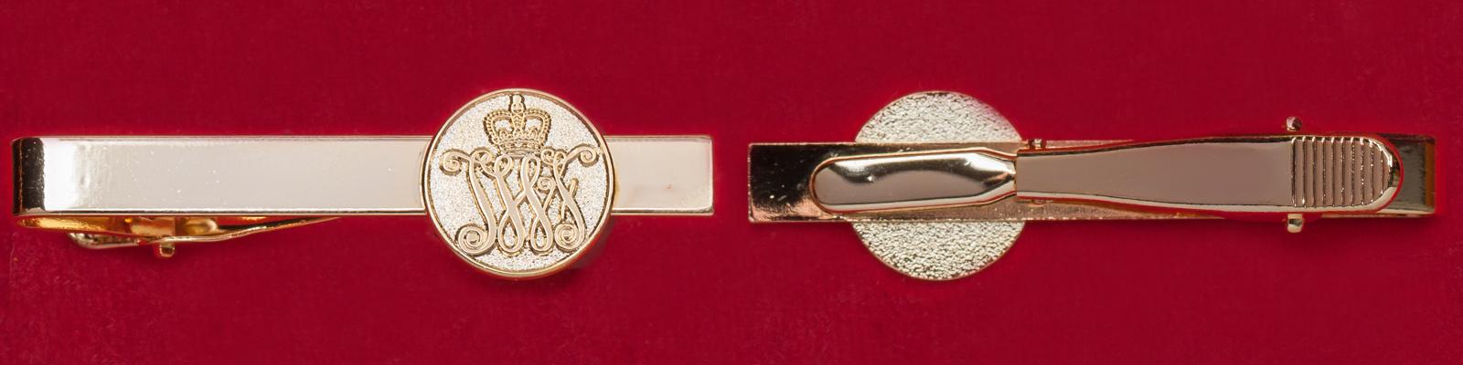 """Зажим для галстука с эмблемой старейшего в Нидерландах пехотного полка """"Йохан Виллем Фризо"""""""