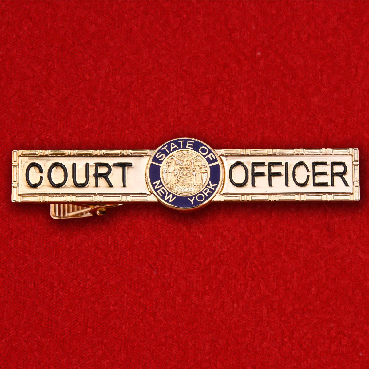 """Зажим для галстука """"Судебный пристав штата Нью-Йорк"""""""
