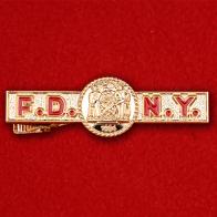 """Зажим для галстука """"Управление пожарной охраны Нью-Йорка"""" (золотой)"""