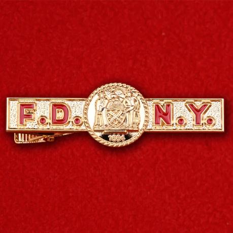 """Зажим для галстука """"Управление пожарной охраны Нью-Йорка"""""""