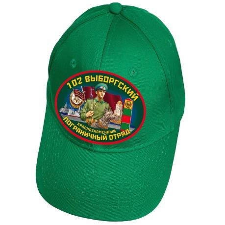 Зелёная бейсболка 102 Выборгский пограничный отряд