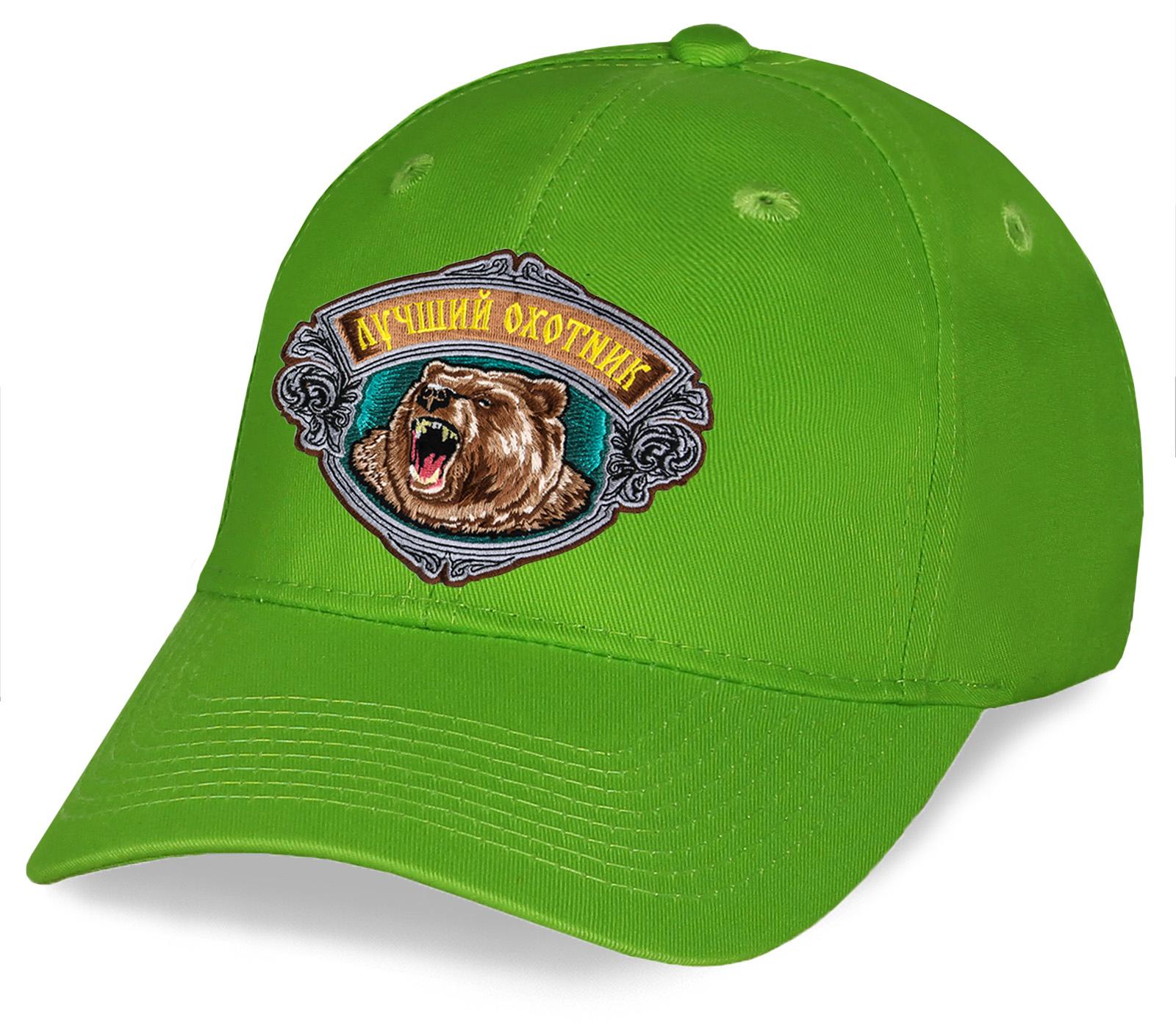 Зеленая бейсболка Лучший охотник