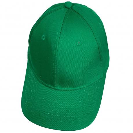 Зелёная бейсболка под нанесение логотипа