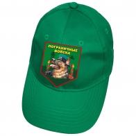 Зеленая бейсболка с термотрансфером Пограничные Войска
